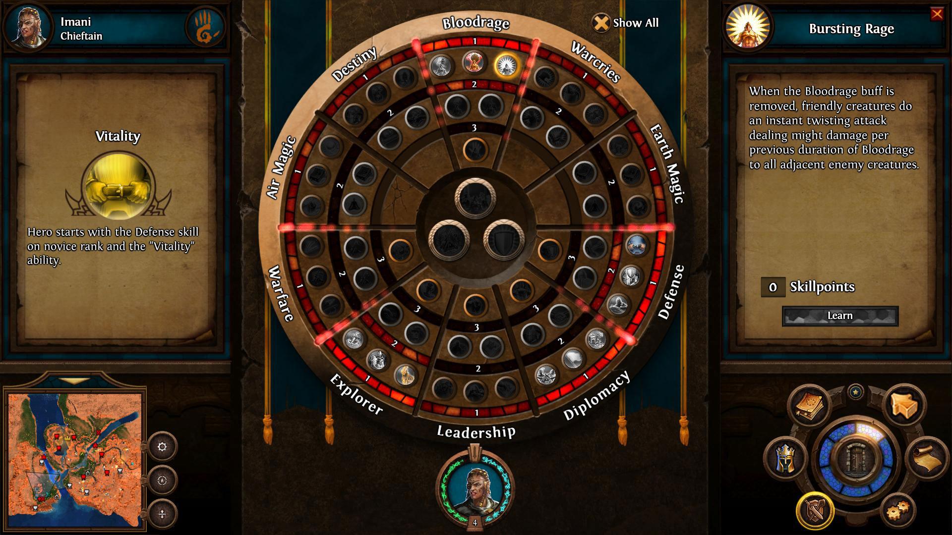 heroes 5 skill wheel
