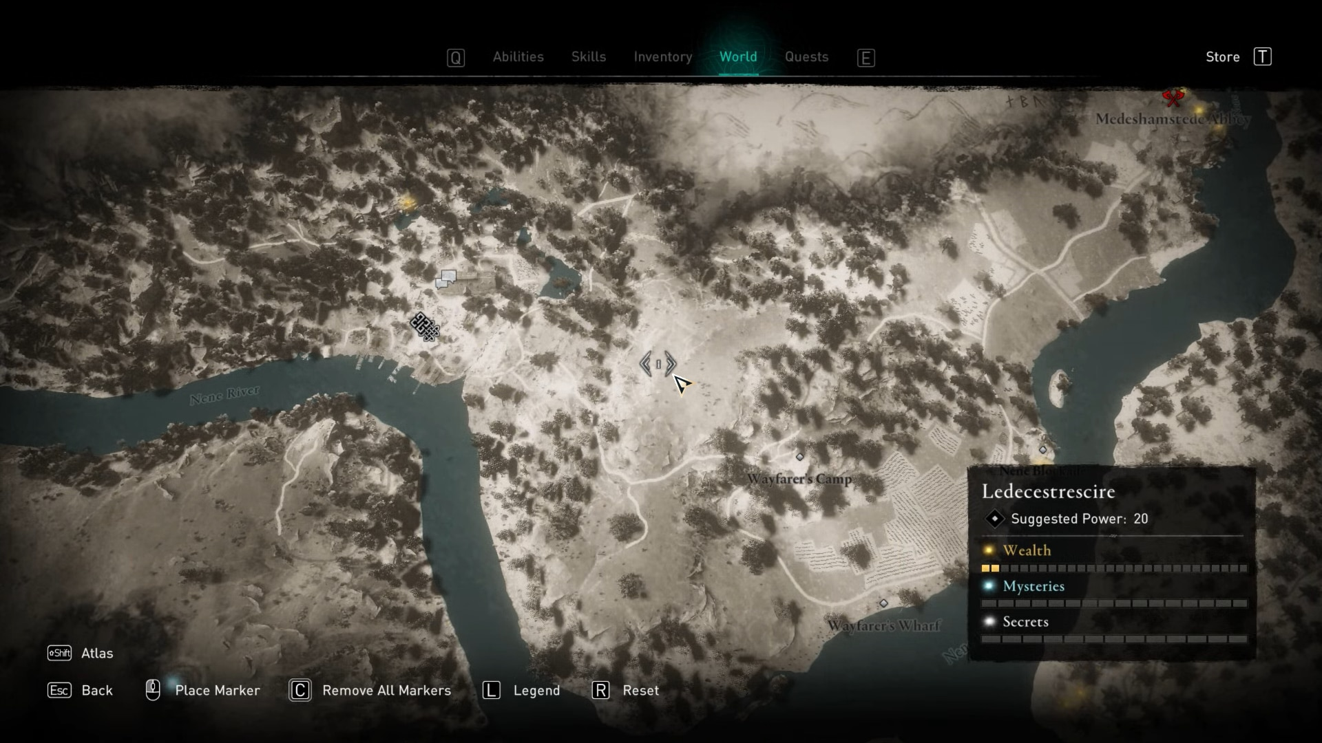 Custom map marker on the world map in Assassin's Creed Valhalla