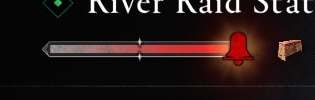 River Alter Level in the River Status screen, completely filled with highlighted bell icon.