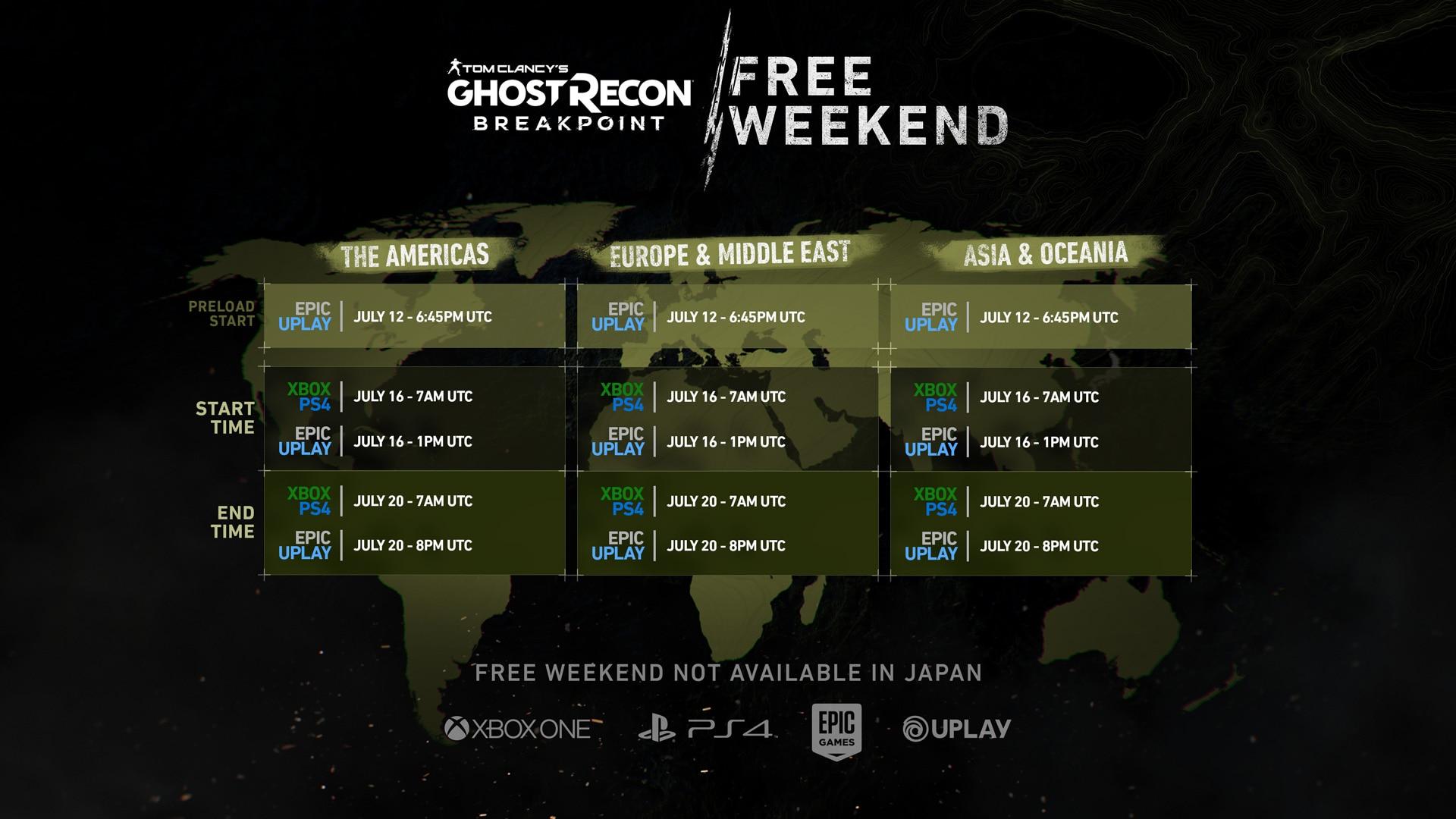 Free Weekend Release Times World Wide