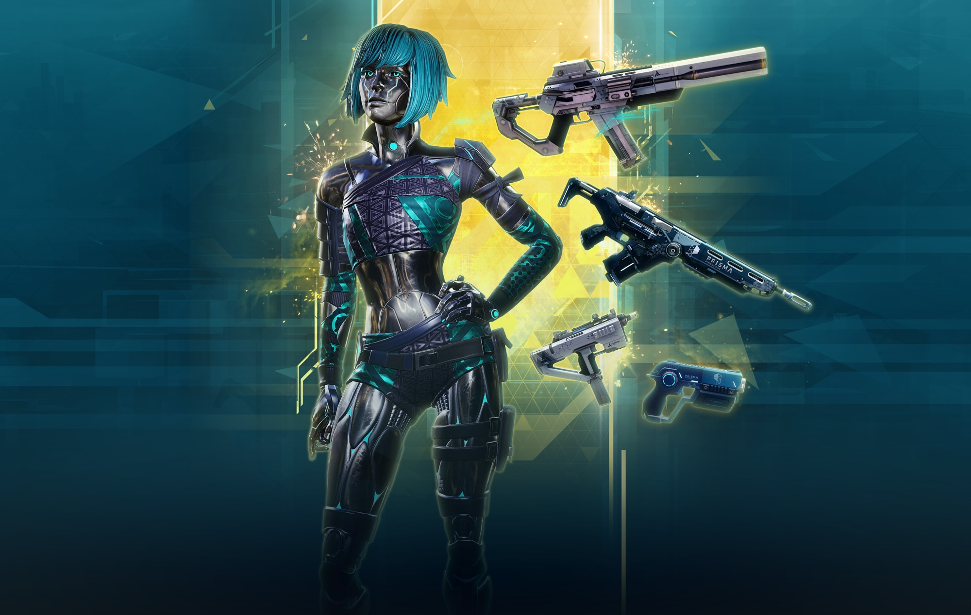 Referrer rewards. One character skin, and four weapon skins.