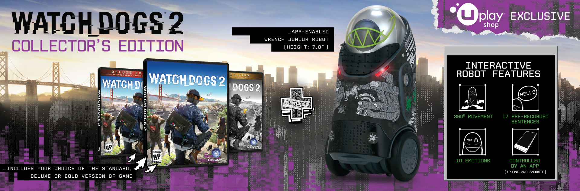 Watch Dogs 2 - Wrench Junior Robot Collector's Pack.
