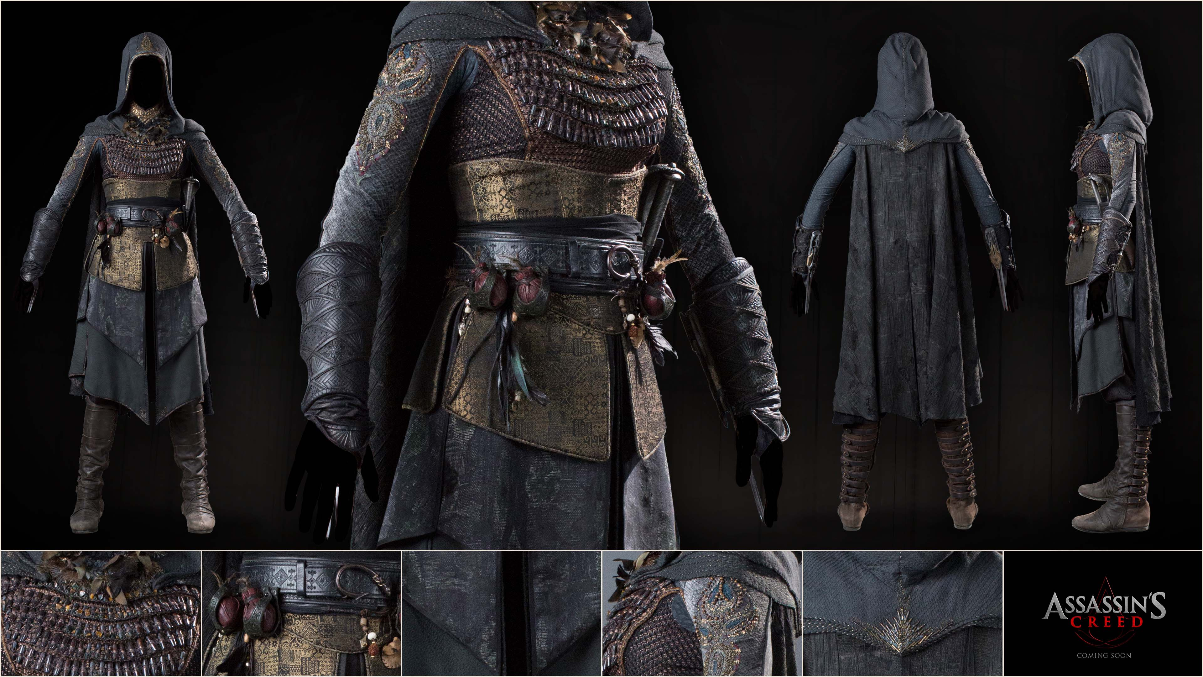 Assassins Creed Movie Close Up With Marias Assassin Costume