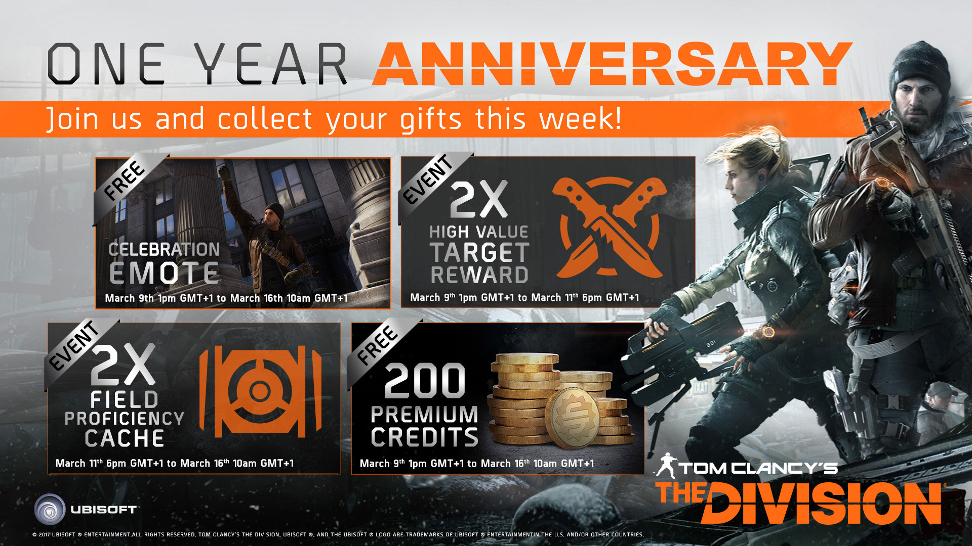 The Division Celebrates Anniversary, Free Year 2 Content Plans Revealed