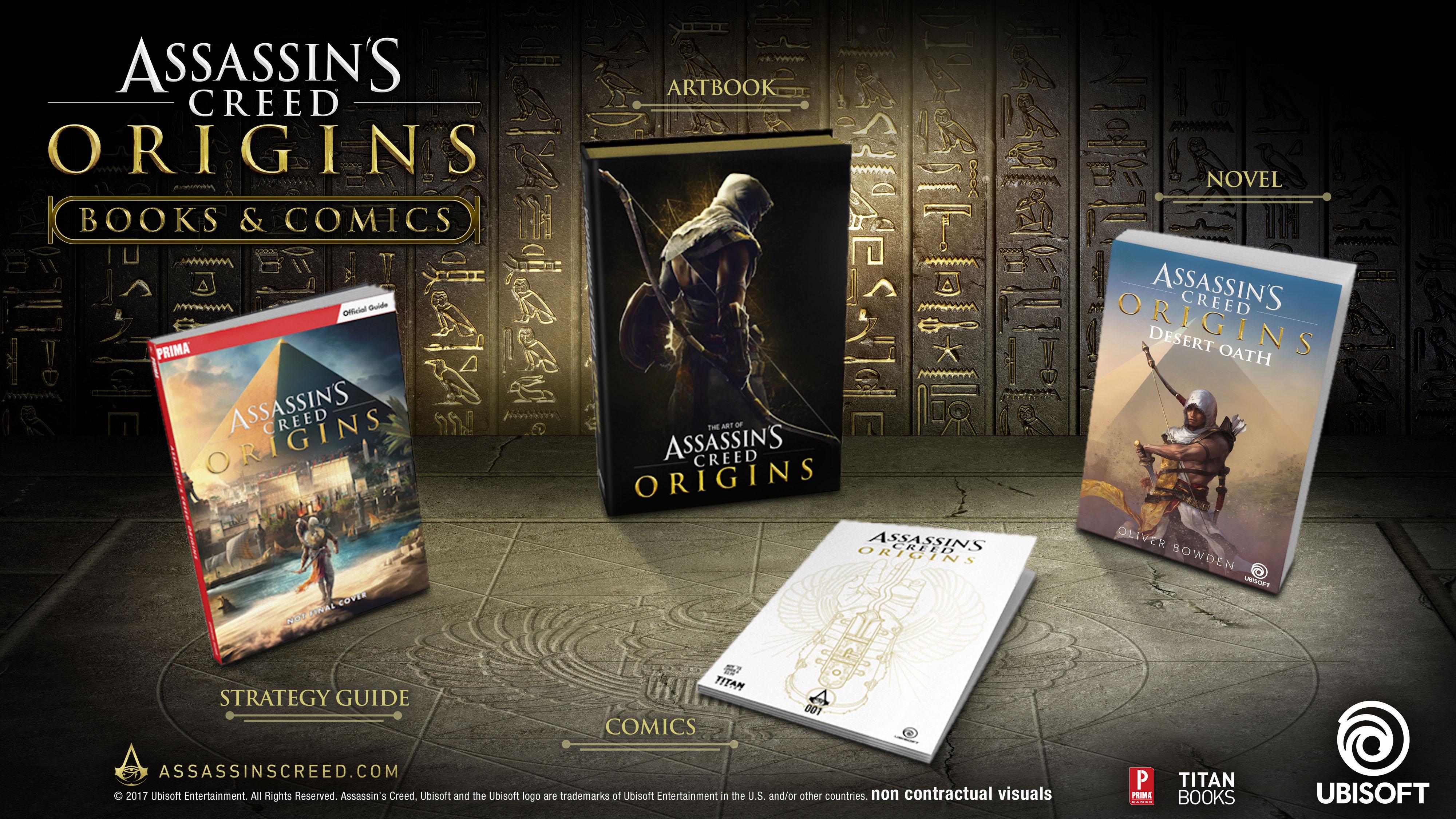 assassin s creed origins novel comics and more planned for fall rh news ubisoft com Assassin's Creed Wallpaper assassin's creed 2 guide book ebay